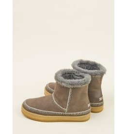 laidback london Laidback London - Nyali crochet pull on ankle boot (grey suede)