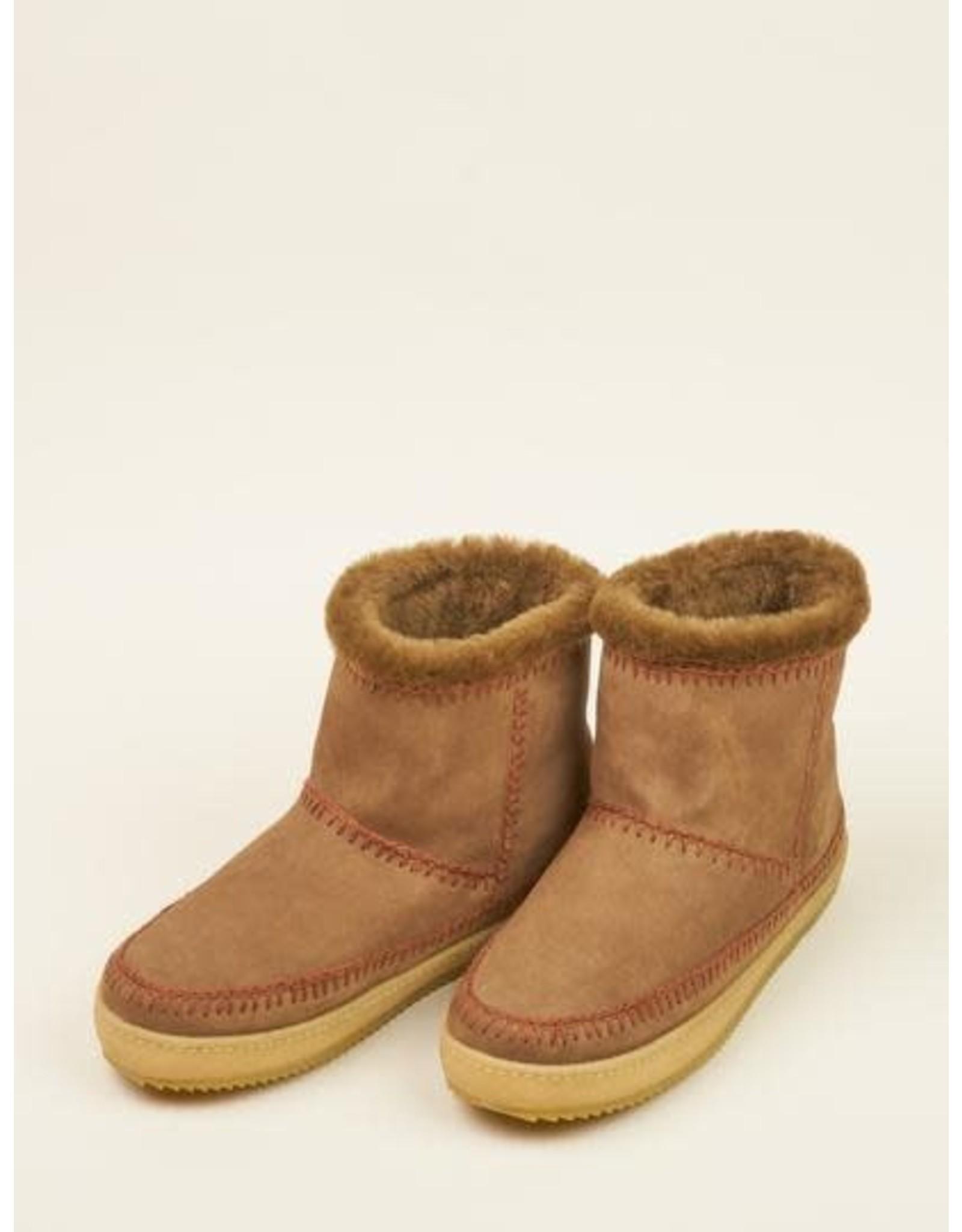 laidback london Laidback London - Nyali crochet pull on ankle boot (camel)