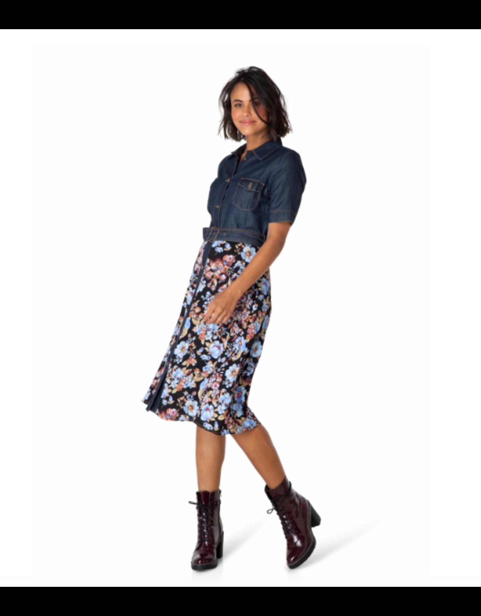 Yest Yest - Olivia denim and floral dress