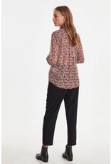 ICHI ICHI - Horse print sheer blouse