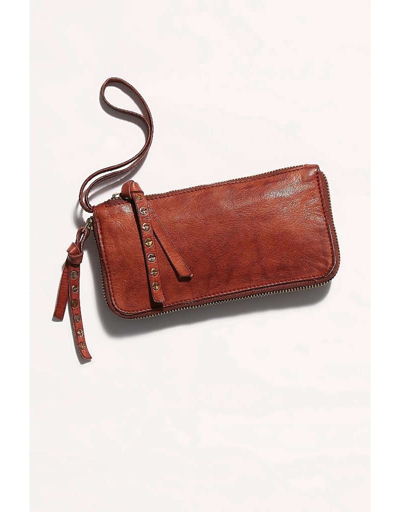 Free people Free People - Distressed wallet (cognac)