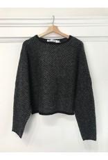 Luna Blue Luna Blue - Celeste geo knit sweater