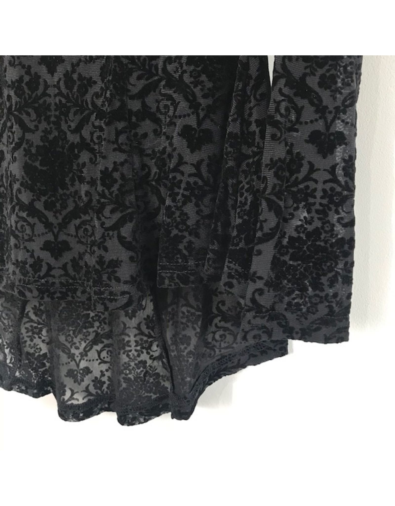 Papillon Papillon - Velvet peplum blouse (black)