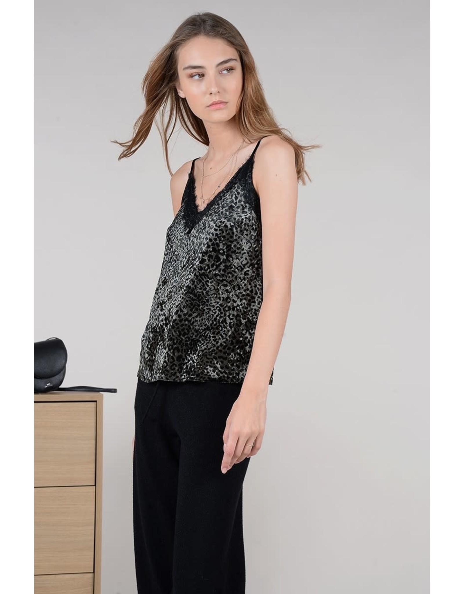 Molly Bracken Molly Bracken - Printed velvet camisole