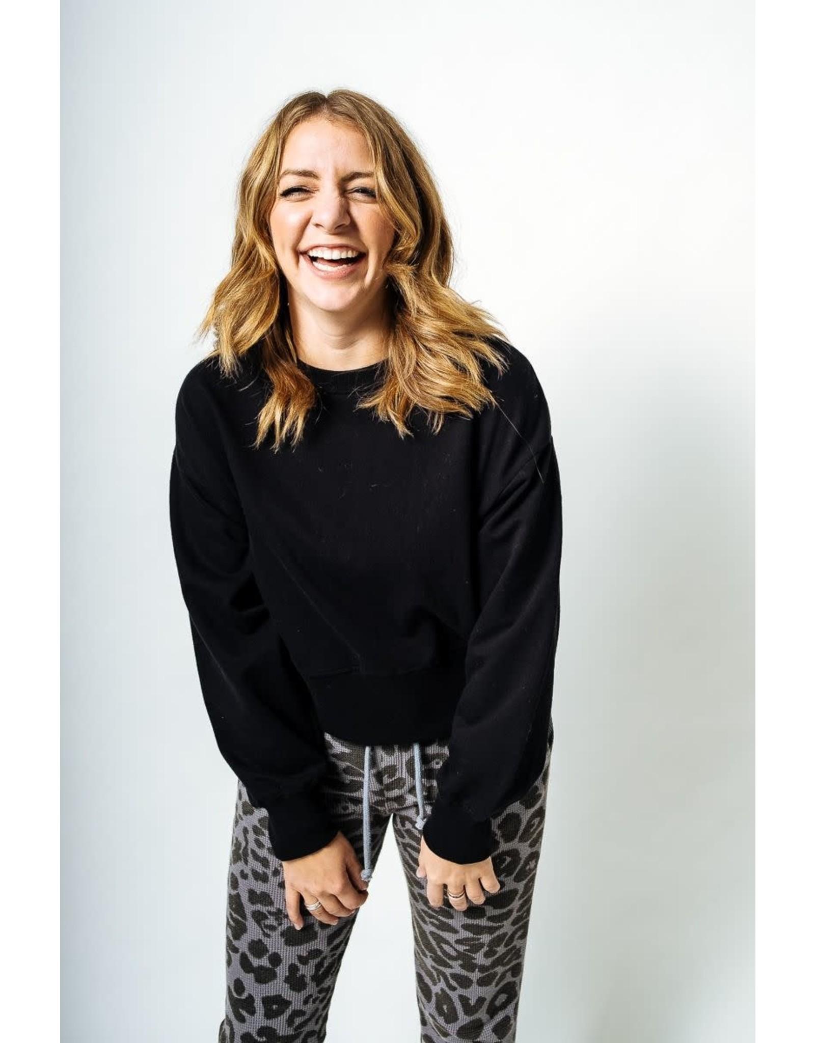 RD Style RD Style - Bailey oversized crop sweatshirt (black)