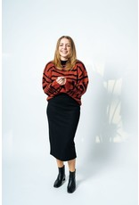 See U Soon See U Soon -  Zebra stripe sweater with balloon sleeve