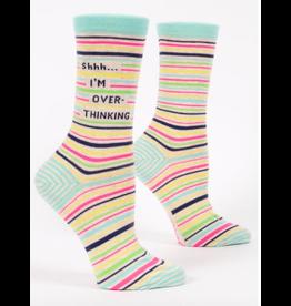 Blue Q Blue Q - Shhh, I'm Overthinking crew socks