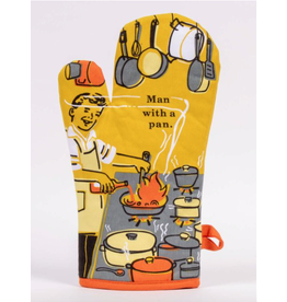 Blue Q Blue Q - Man With a Pan oven mitt