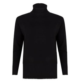EsQualo EsQualo - Sweater with ribbed hem and cuffs (black)