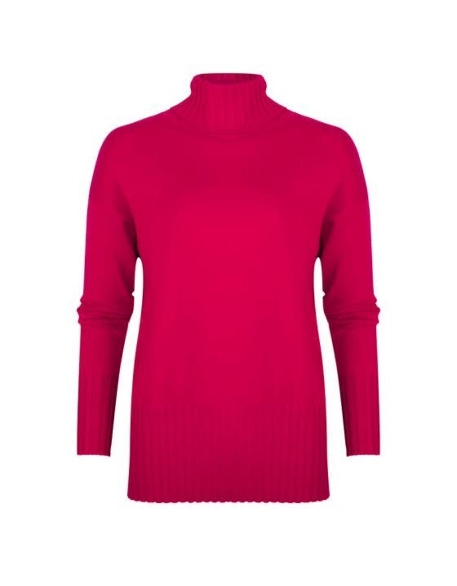 EsQualo EsQualo - Sweater with ribbed hem and cuffs (fuchsia)