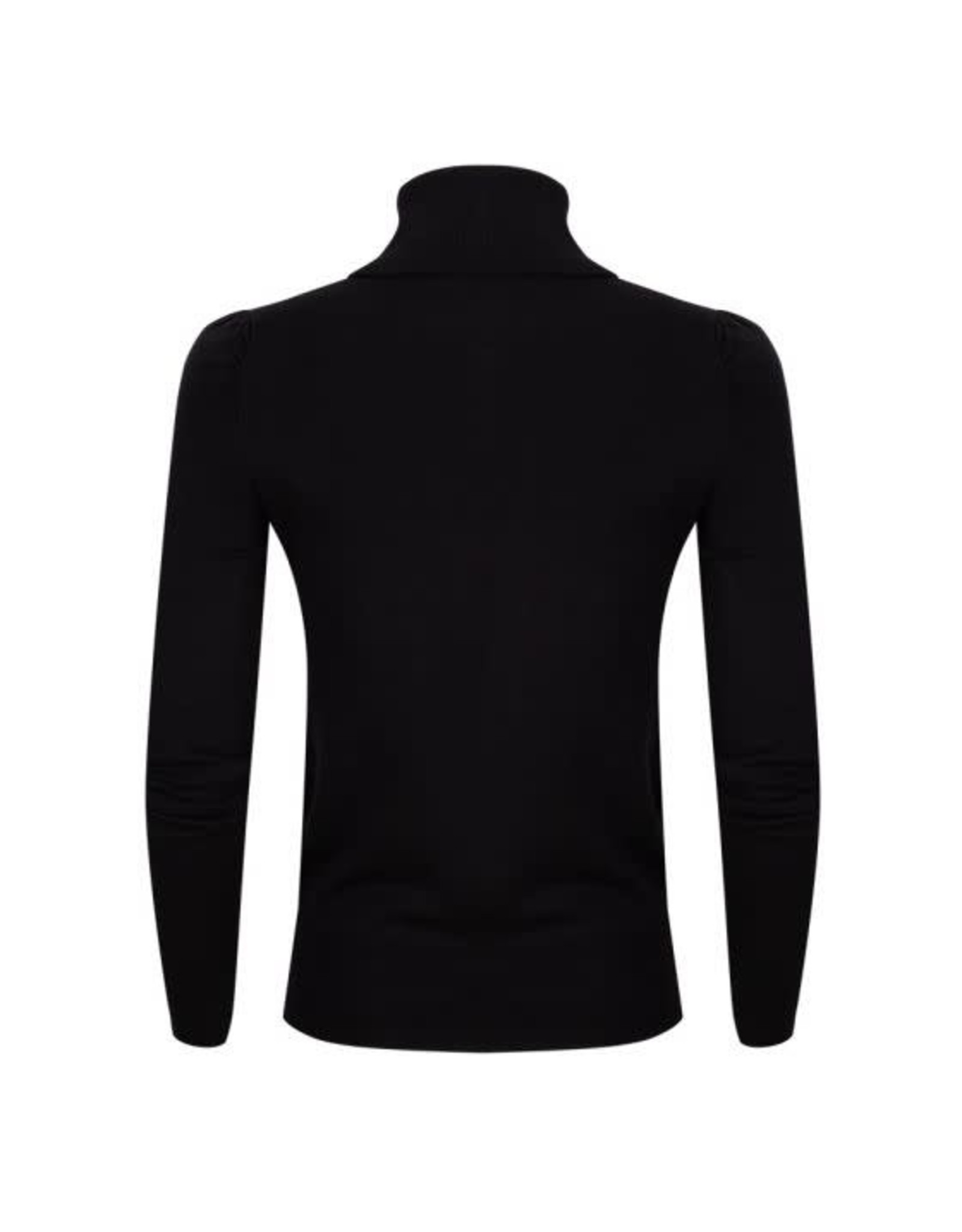 EsQualo EsQualo - Sweater with gathering sleeves (black)