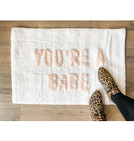 Indaba indaba - You're a Babe bath mat