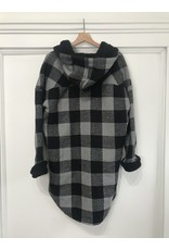 RD Style RD Style - Woven hooded coat (grey buffalo check)
