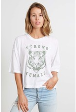 good hYOUman good hYOUman - Strong Female tee (white)