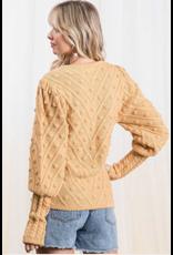 Honor - Popcorn stitch sweater (mustard)