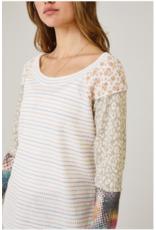 Reese - Striped top with boho sleeves