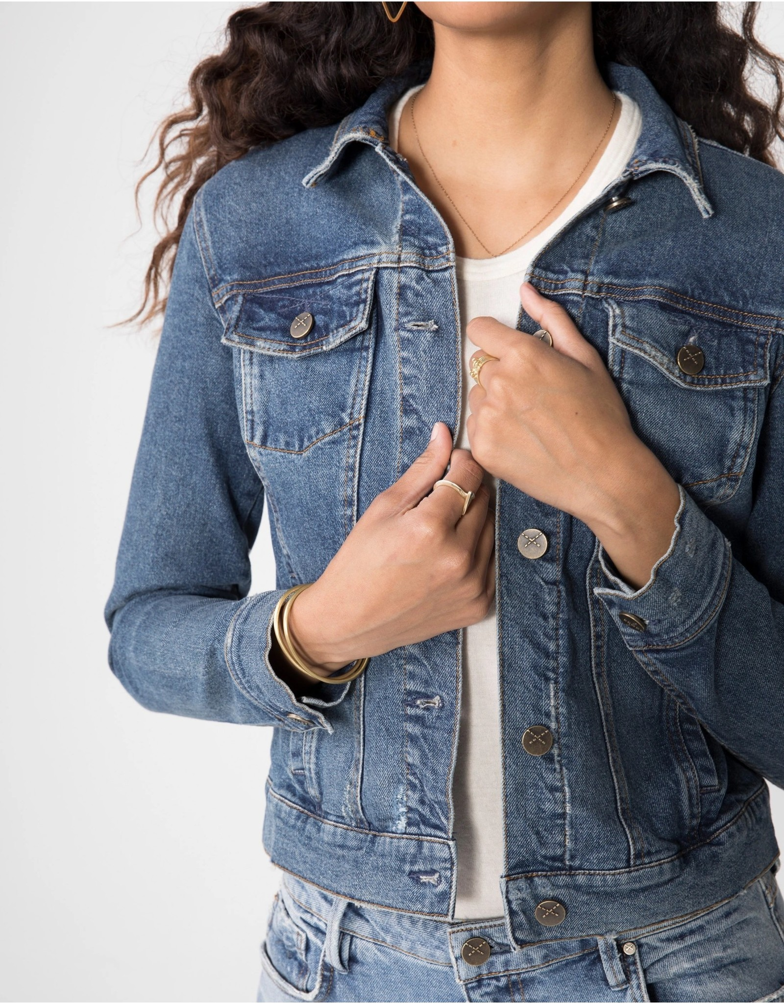 Unpublished Unpublished - Abbie fitted trucker jacket (rhodes)