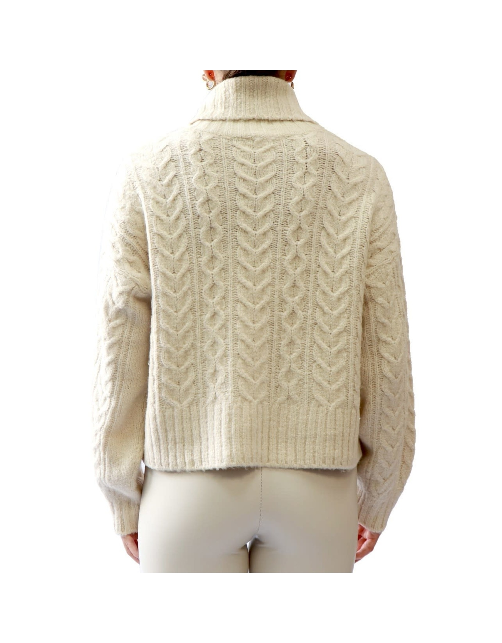 RD Style RD Style - Myra rollneck sweater (white beach)