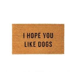 Indaba indaba - Hope You Like Dogs doormat