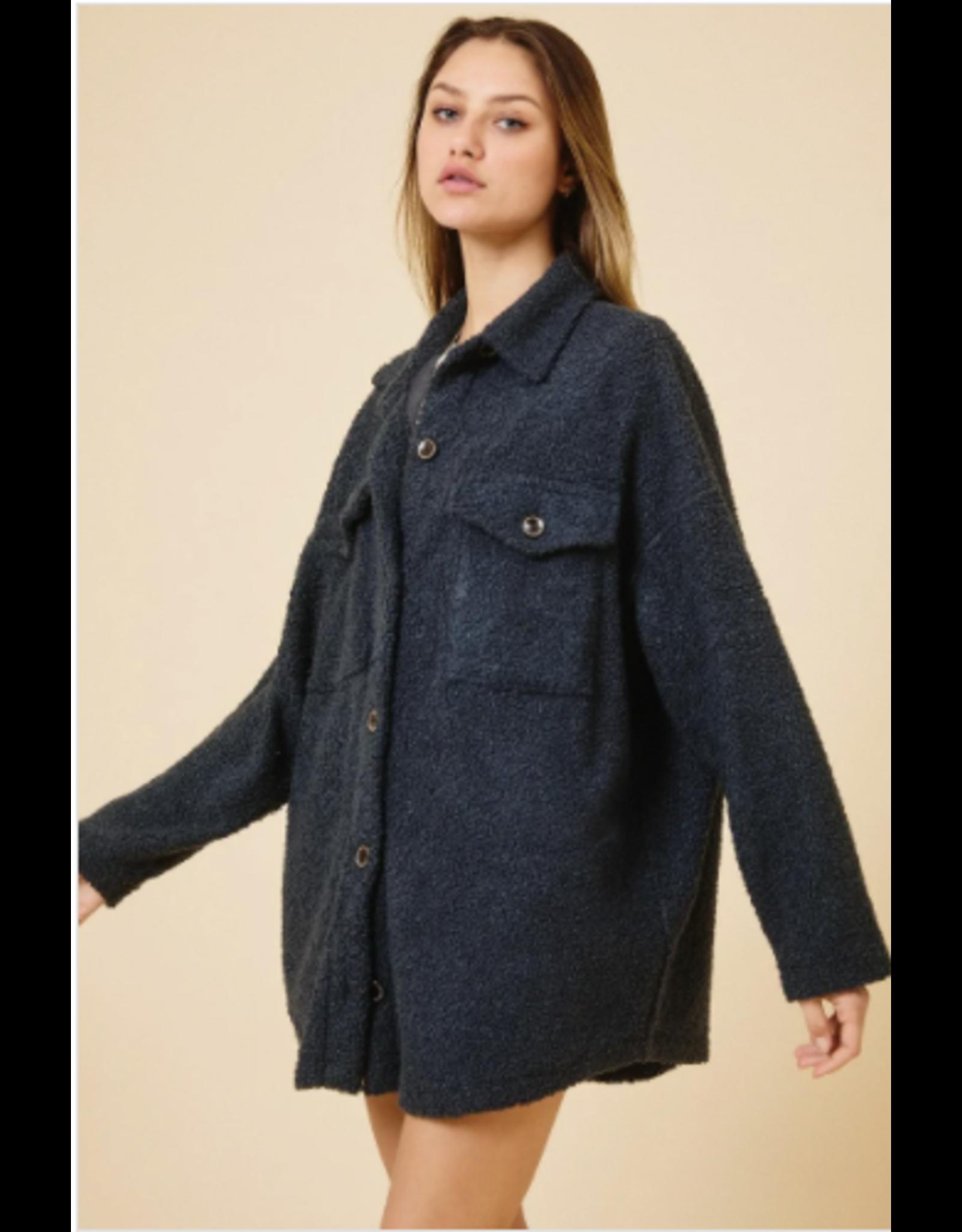 Oakley - Teddy bear shirt jacket (charcoal)