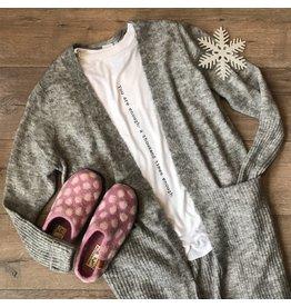 ICHI ICHI - Kamara midi length cardigan (grey)