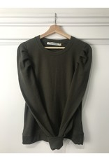 RD Style RD Style - Billie puff shoulder waffle knit top (dark army)