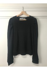 RD Style RD Style - Billie puff shoulder waffle knit top (black)