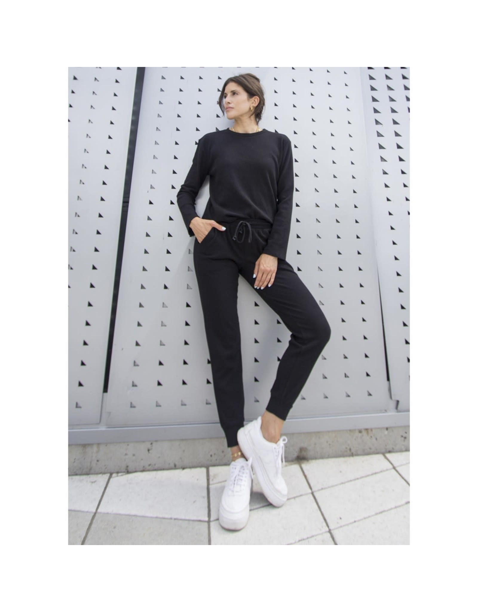 RD Style RD Style - Teagan waffle knit top (black)