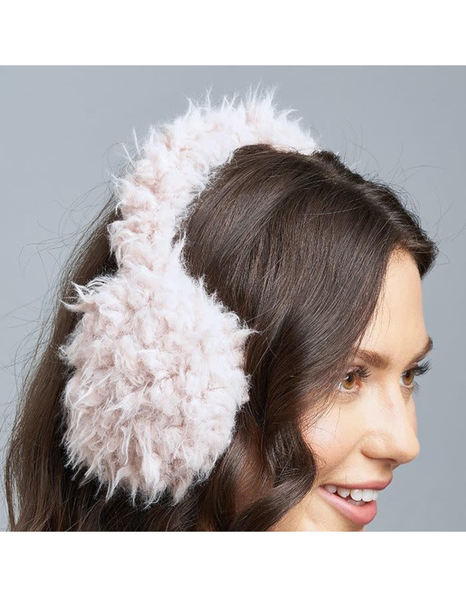 Lemon Lemon - Shaggy bunny ear muffs (pink)