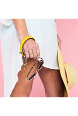 O Venture Smooth leather key ring (Yes Yellow)
