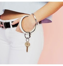 O Venture Smooth leather key ring