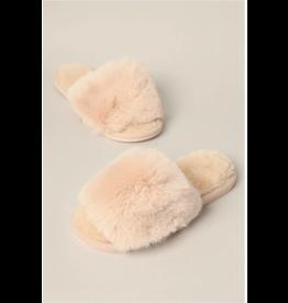 Alba - Fuzzy sandals (ivory)