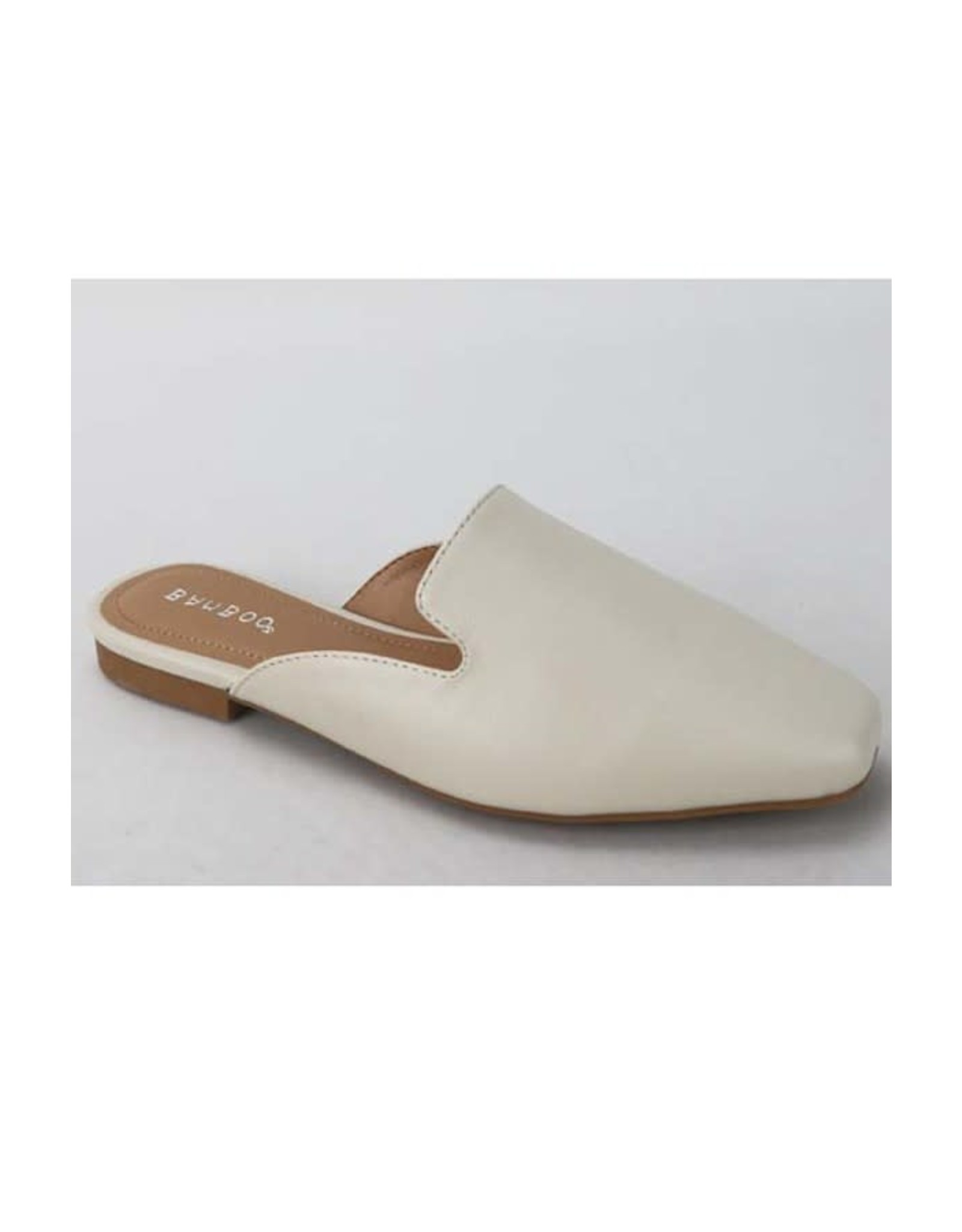 Sweep - Faux leather flat mules (ivory)