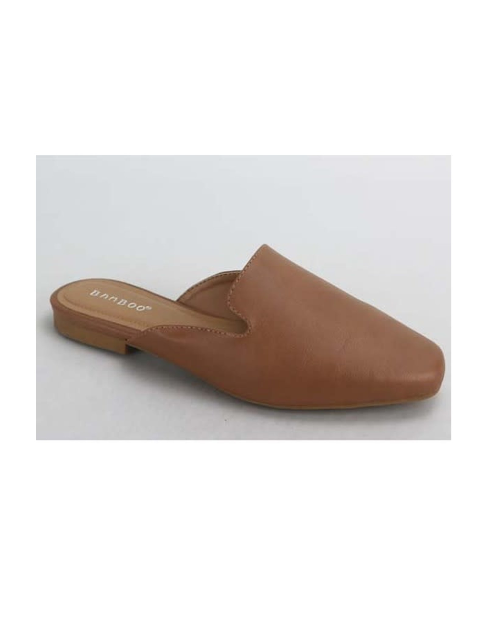 Sweep - Faux leather flat mules (tan)