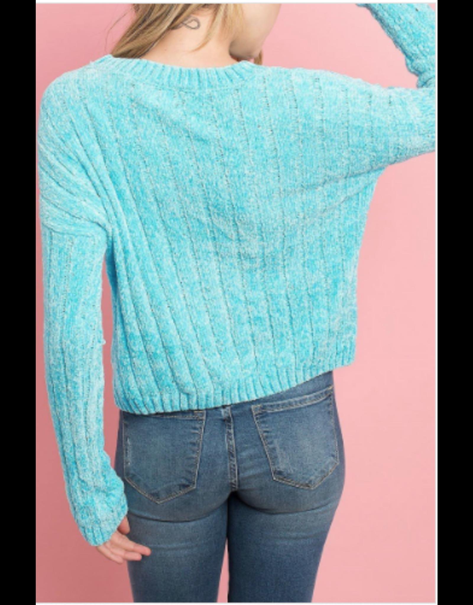 Lilith - Crew neck chenille sweater