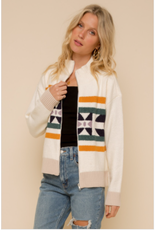 Nico - Zip Up Jacquard jacket
