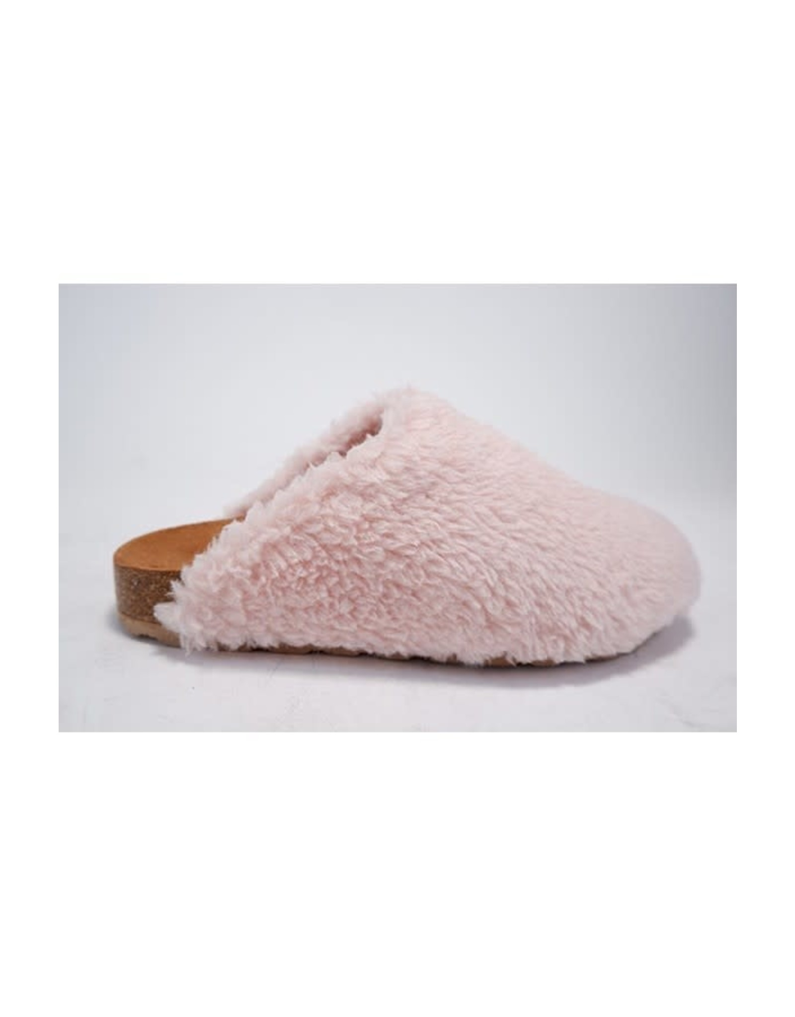 Soda Kylie - Faux fur clogs (pink)