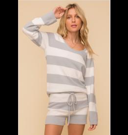 RD Style Suki - Grey and white striped sweater