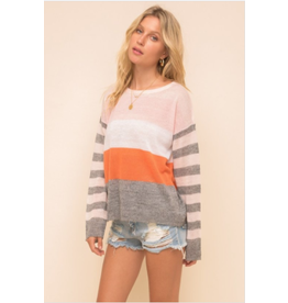 RD Style Lexie - Multicolour striped sweater