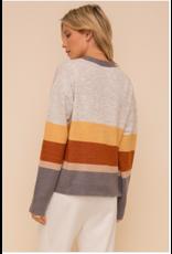 Winnie - Colourblock striped cardigan