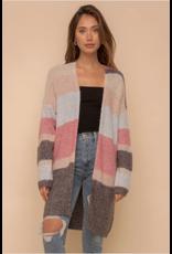 Libby - Colourblock striped cardigan