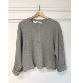 RD Style RD Style - Nora waffle knit henley (grey)