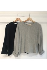 RD Style RD Style - Nora waffle knit henley (black)