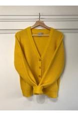 ICHI ICHI - Dusty cropped cardigan (lemon)