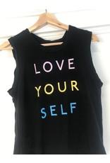 good hYOUman good hYOUman - Love Your Self sleeveless tee (black sand)