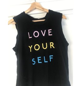 good hYOUman good hYOUman - Love Your Self sleeveless tee (black sand)