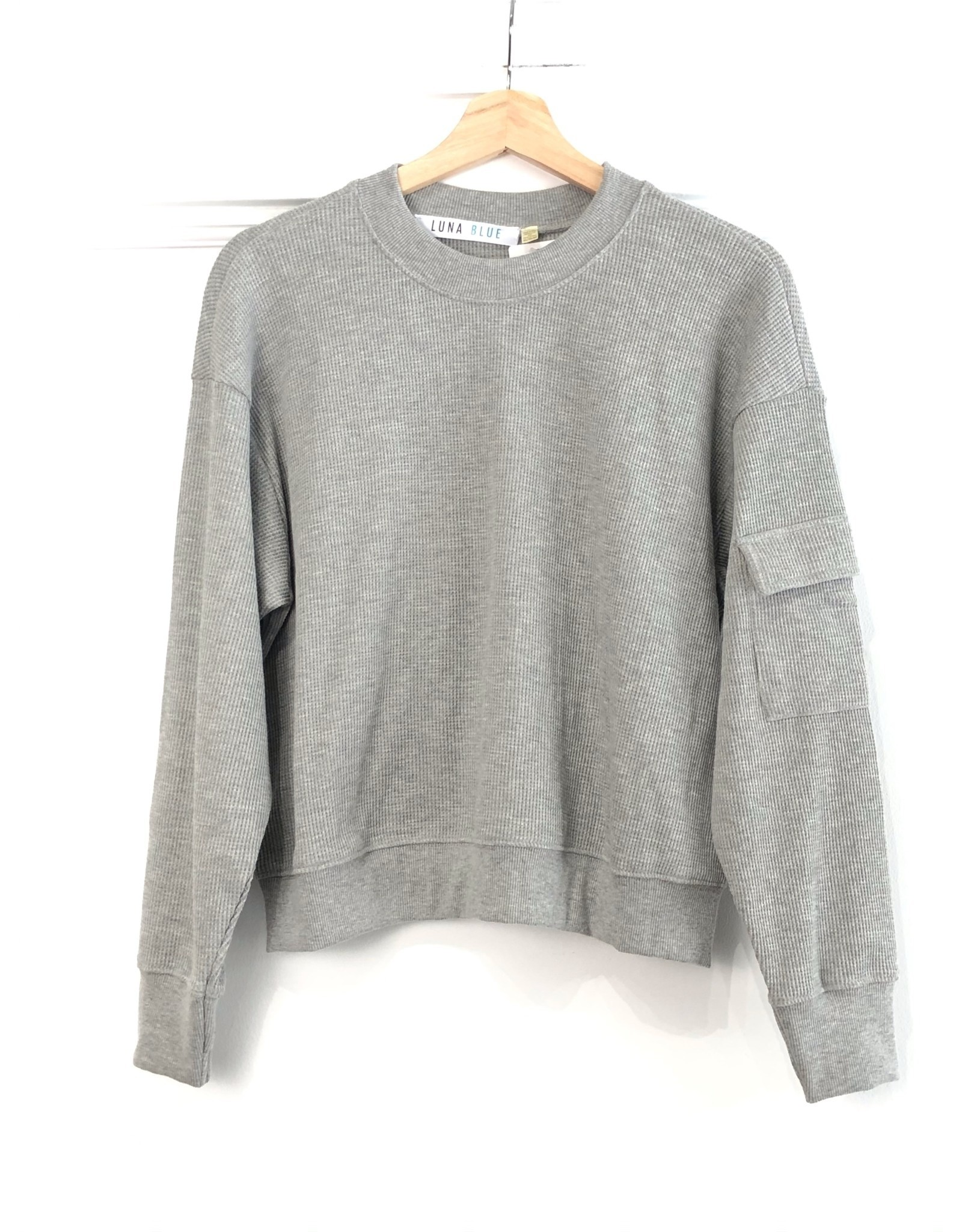 RD Style RD Style - Daphne waffle knit pullover (grey)