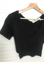 RD Style RD Style - Blair criss cross cropped sweater (black)