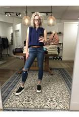 Yest Yest - Gisela sleeveless blouse (marine blue)