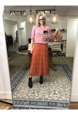 EsQualo EsQualo - Plisse full flower skirt